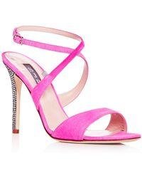 SJP by Sarah Jessica Parker - Women's Elektra Suede Crisscross High Heel Sandals - Lyst
