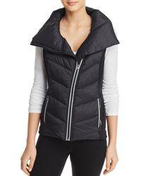 Aqua - Athletic Asymmetric Puffer Vest - Lyst