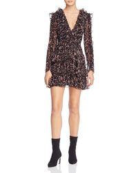 Bardot - Alessia Frill Mini Dress - Lyst