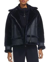 Whistles - Mix Faux-shearling Jacket - Lyst