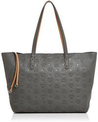 66ec218c0 Longchamp Le Pliage Large Monogrammed Travel Bag in Gray - Lyst