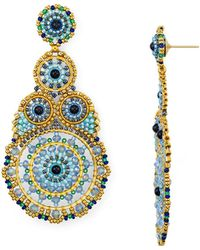 Miguel Ases - Statement Circle Drop Earrings - Lyst