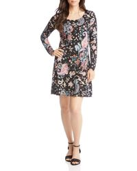 Karen Kane - Erin Printed A-line Dress - Lyst