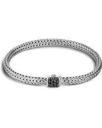 John Hardy | Classic Chain Sterling Silver Lava Extra Small Bracelet With Black Sapphire | Lyst