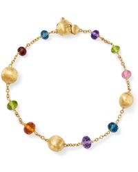 Marco Bicego - 18k Yellow Gold Africa Colour Multi Gemstone Bracelet - Lyst
