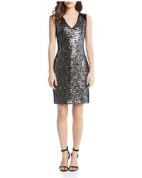 Karen Kane - Metallic Sequin Sheath Dress - Lyst