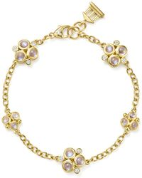 Temple St. Clair - 18k Yellow Gold Royal Blue Moonstone And Diamond Trio Bracelet - Lyst