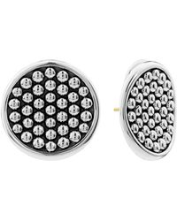 Lagos - Sterling Silver Bold Caviar Button Earrings - Lyst
