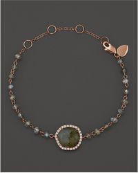 Meira T - 14k Rose Gold Labradorite Bead Bracelet - Lyst