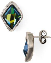 Uno De 50 - Stalagmite Faceted Crystal Stud Earrings - Lyst