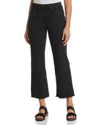 Eileen Fisher - Pull-on Cropped Flare Jeans In Washed Black - Lyst
