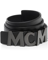 MCM - Collection Leather Belt - Lyst