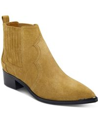 Marc Fisher - Yohani Suede Western Booties - Lyst