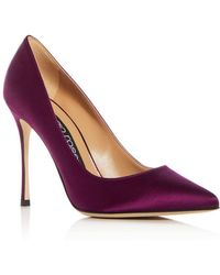 Sergio Rossi - Women's Godiva Satin Pointed Toe Court Shoes - Lyst