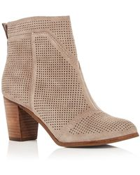 TOMS - Women's Lunata Perforated High Heel Booties - Lyst