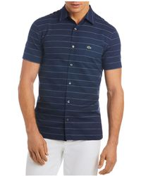 Lacoste - Striped Regular Fit Button-down Shirt - Lyst