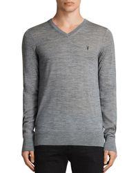 AllSaints - Mode Merino V-neck Sweater - Lyst