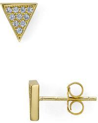 Aqua - Triangle Stud Earrings - Lyst