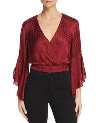Band Of Gypsies - Rene Faux-wrap Cropped Top - Lyst