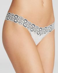 Hanky Panky - Heather Jersey Low-rise Thong - Lyst