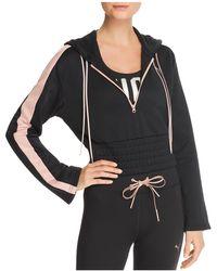 PUMA - En Pointe Savannah Cropped Hooded Sweatshirt - Lyst