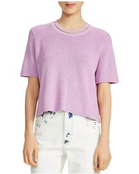 Maje - Magrite Short-sleeve Chain-trim Sweater - Lyst