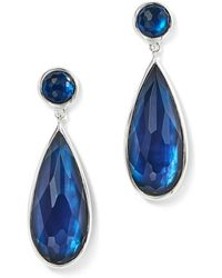 Ippolita - Sterling Silver Rock Candy® Wonderland Elongated Snowman Earrings In Midnight - Lyst