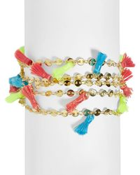 BaubleBar - Rica Multicolor Tassel Bracelet - Lyst