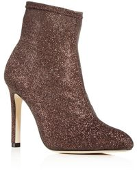 SJP by Sarah Jessica Parker - Women's Apthorp Glitter Pointed Toe High-heel Booties - Lyst