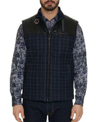 Robert Graham - Mcclement Mixed-media Plaid Quilted Vest - Lyst