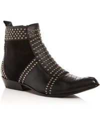 Anine Bing - Women's Charlie Studded Western Pointed-toe Booties - Lyst