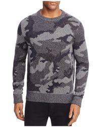 BOSS Orange   Armieto Camouflage Print Crewneck Sweater   Lyst