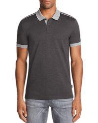 b90015490 Lyst - BOSS Boss Slim-fit Phillipson Short-sleeve Polo Shirt in Gray ...