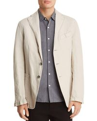 Eidos - Garment Washed Cotton Regular Fit Sport Coat - Lyst