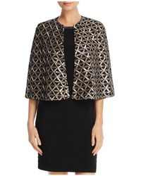 Laundry by Shelli Segal - Sequin Capelet - Lyst