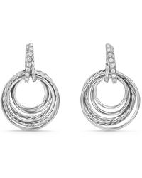 David Yurman - Crossover Drop Earrings With Diamonds - Lyst