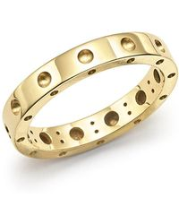 Roberto Coin - 18k Yellow Gold Symphony Dotted Ring - Lyst