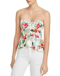 Bardot - Tropical Print Bustier Top - Lyst