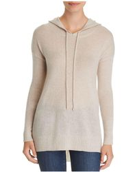 C By Bloomingdale's - Long Cashmere Hooded Sweater - Lyst