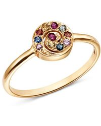 Shebee - 14k Yellow Gold Multicolor Sapphire Spiral Ring - Lyst