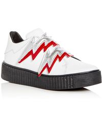 Modern Vice - Women's Bolt Embellished Leather Creeper Trainers - Lyst