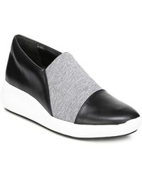 Via Spiga Women's Morgan Leather & Knit Platform Slip-On Sneakers NC2iFcNH