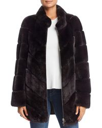 Maximilian - Rabbit Fur Coat - Lyst
