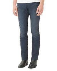 Sandro - Jeans - Per Jea Paint Straight Fit In Indigo - Lyst