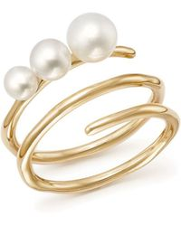 Ippolita - 18k Yellow Gold Nova Cultured Freshwater Pearl Spiral Ring - Lyst