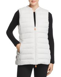 Save The Duck - Faux-fur Lined Packable Vest - Lyst