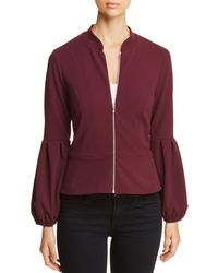 e21fbd90a59c ... Pink  fashion style 59155 83c4d Vince Camuto - Bubble-sleeve Zip Jacket  - Lyst ...