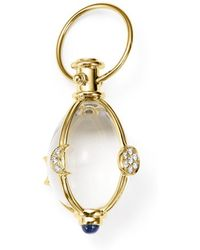 Temple St. Clair - 18k Yellow Gold Lunar Phase Amulet With Blue Sapphire And Diamond - Lyst