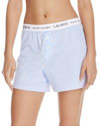 Ralph Lauren - Lauren Rib Essentials Boxer Briefs Pajama Shorts - Lyst