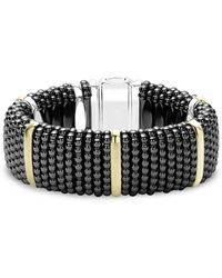 Lagos - Black Caviar Ceramic Bracelet With 18k Gold And Sterling Silver - Lyst